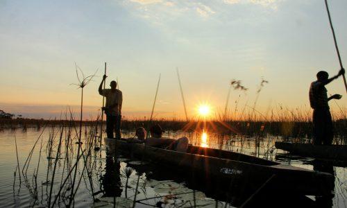 mokoro-sunset-in-okavango-delta
